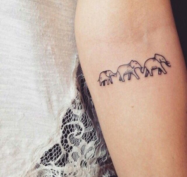 elephant tattoo on foot meaning