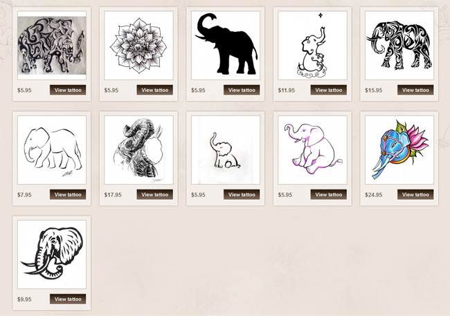 cute elephant tattoo meaning
