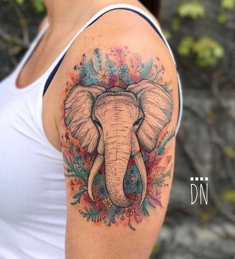 elephant tattoo designs upper arm