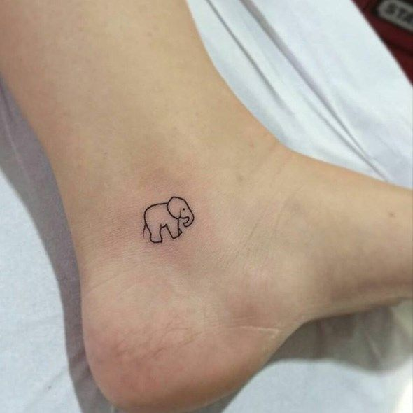 elephant tattoo small simple