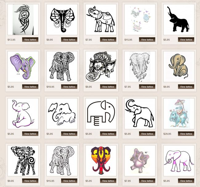 elephant tattoo meaning love